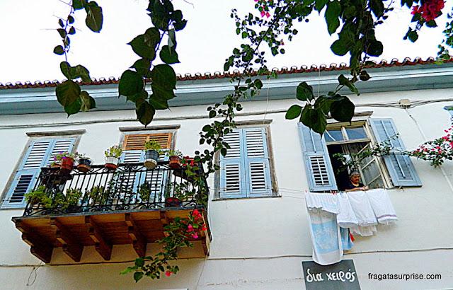 Fachada típica de Nafplio, Grécia