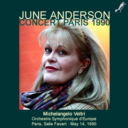 Le chant infini june anderson concert paris 1990 for Je ris de me voir si belle en ce miroir