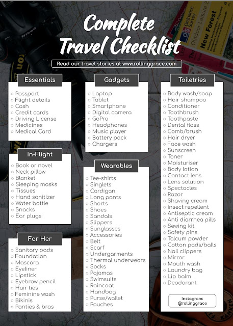 free travel Packing List Template for Excel