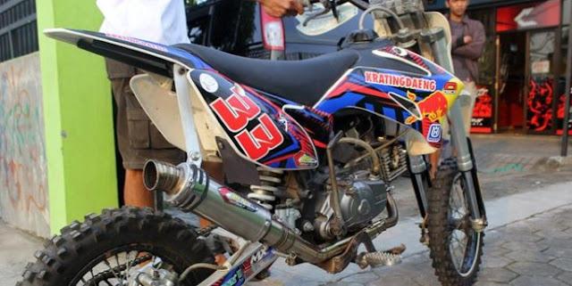 Modifikasi Motor Trail Bebek 2 Tak Grasstrack Paling Keren Murah
