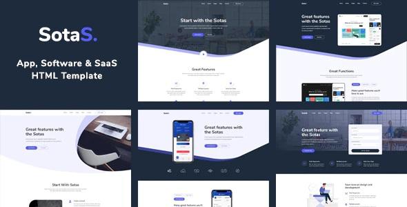 App, Software & SaaS Template