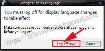 mengganti bahasa windows ke bahasa yang lain