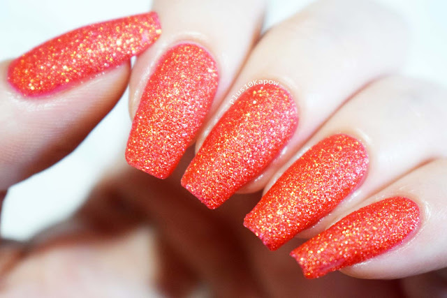 Barry M Crystal Rock Collection Swatches Coral Sandstone