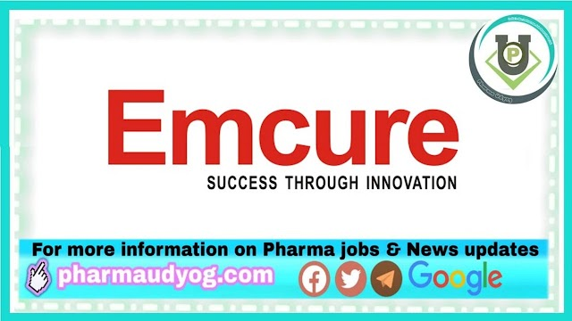 Emcure Pharma | Walk-in interview at Ahmedabad on 19th Jan 2021 for Sales Team