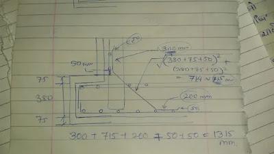 Haunch bar length calculation