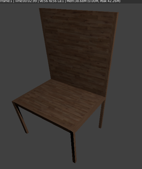 chair in Blender