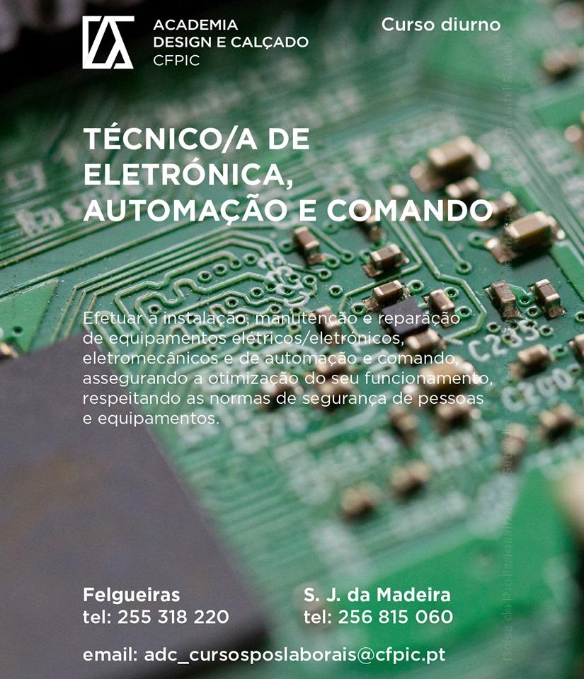 Curso financiado de Técnico de eletrónica, automação e comando – Felgueiras e São João da Madeira