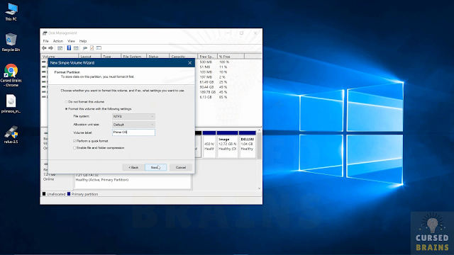 How To Install Prime OS create a new partition