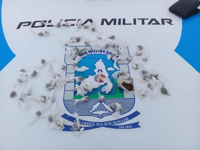 São Félix do Piauí: Na PI-225, polícia prende jovem com farta quantidade de maconha