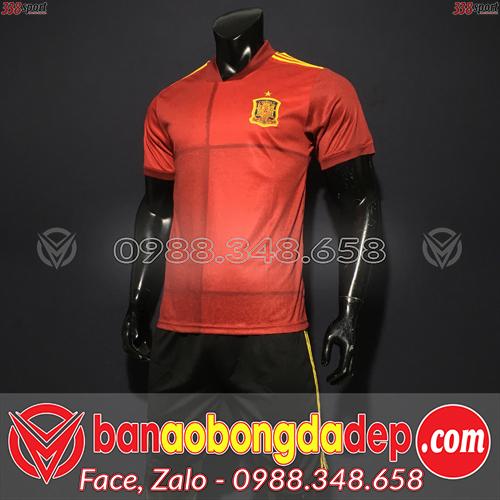 Áo Đội Tuyển Tây Ban Nha Màu Đỏ 2020 Sân Nhà