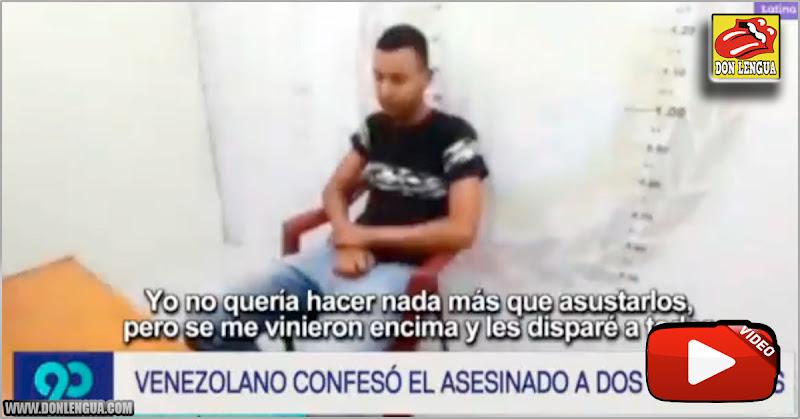 Capturan a venezolano que asesinó a dos peruanos tras orinar e su puerta en Perú