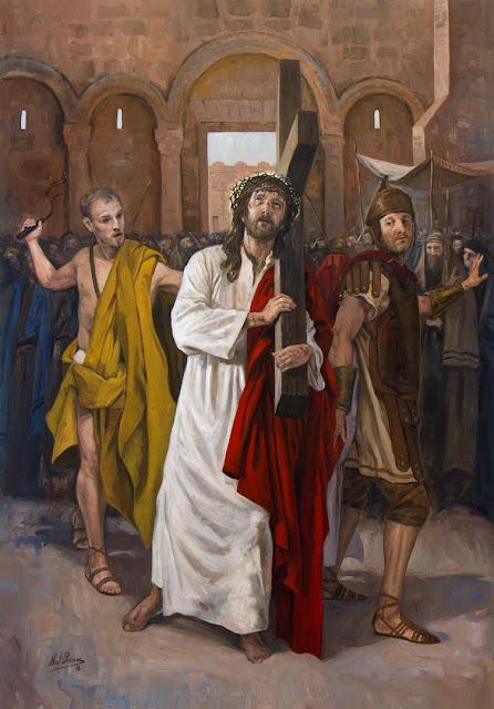 II Estação da Via-Sacra - Jesus toma sua cruz aos ombros