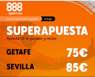 888sport superapuesta liga Getafe vs Sevilla 23 febrero 2020