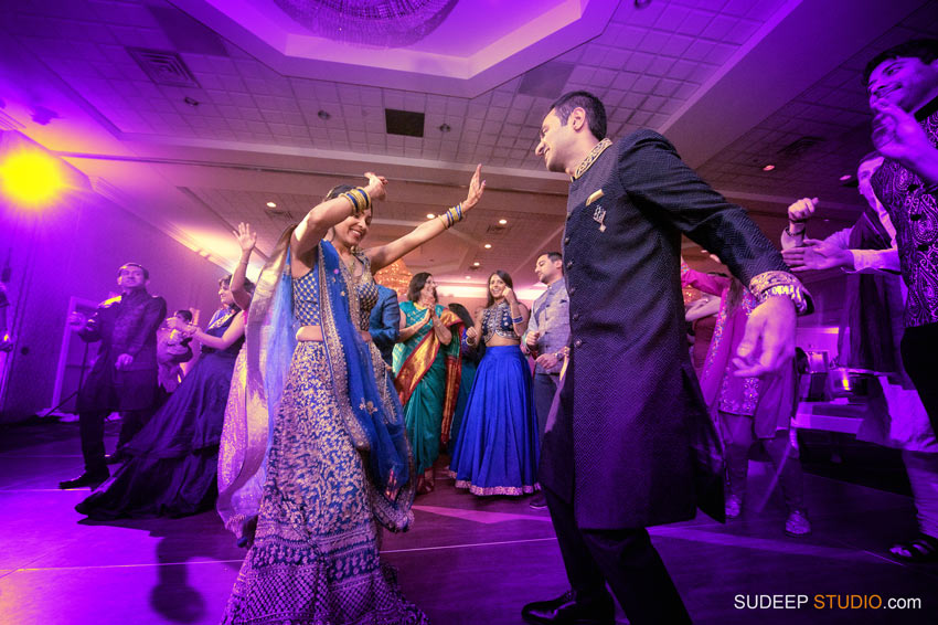 Indian Wedding Sangeet Photography South Asian Hindu Wedding Dancing at Eagle Crest Marriott by SudeepStudio.com Ann Arbor Indian Wedding Photographer