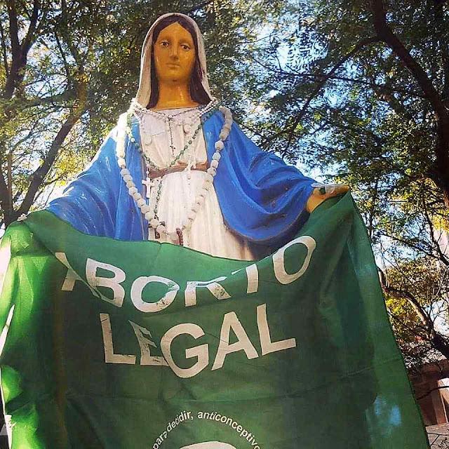 Grave ofensa a Nossa Senhora das Graças na cidade de San Luis
