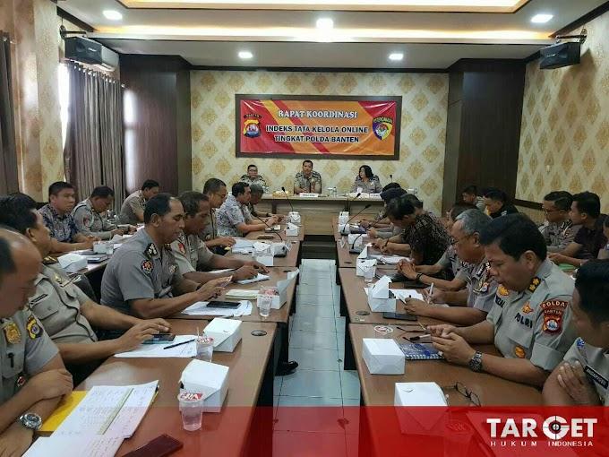 Polda Banten Laksanakan Rapat Koordinasi Tata Kelola Online Tingkat Polda