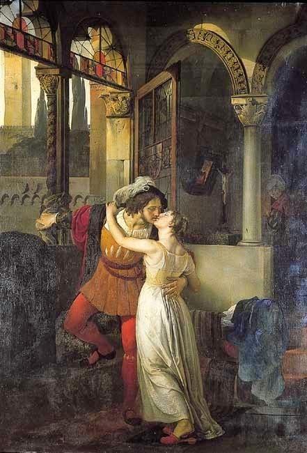 El Último beso de Romeo y Julieta de Francesco Hayez