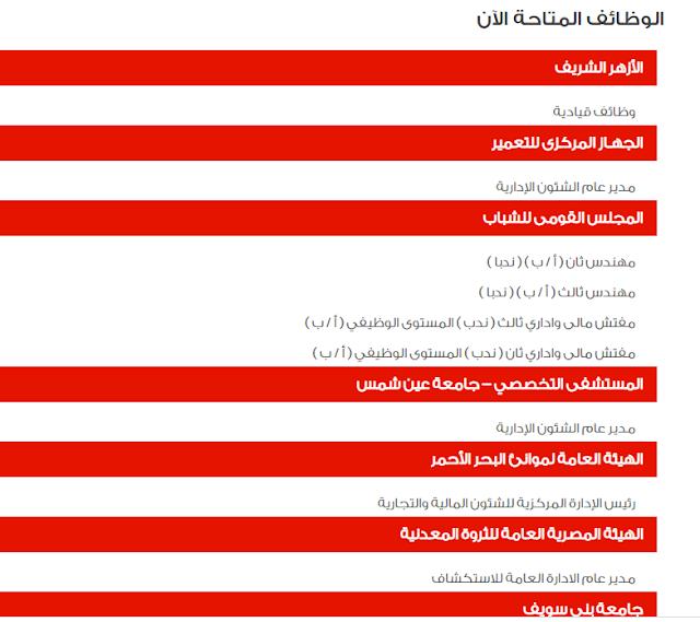 اعلان وظائف الحكومة المصرية شهر ابريل 2021 من بوابة الحكومة المصرية