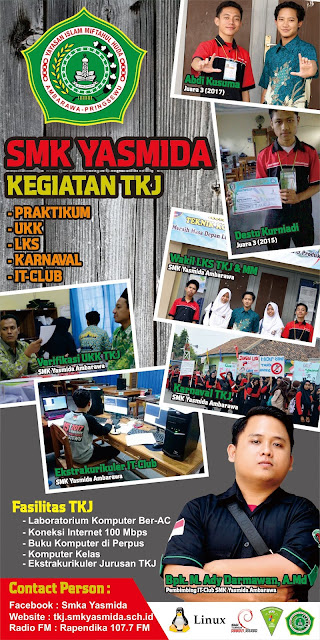 Design Banner Roll Up Jurusan TKJ SMK Yasmida