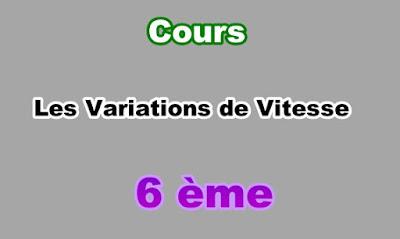 Cours de Variations de Vitesse 6eme en PDF