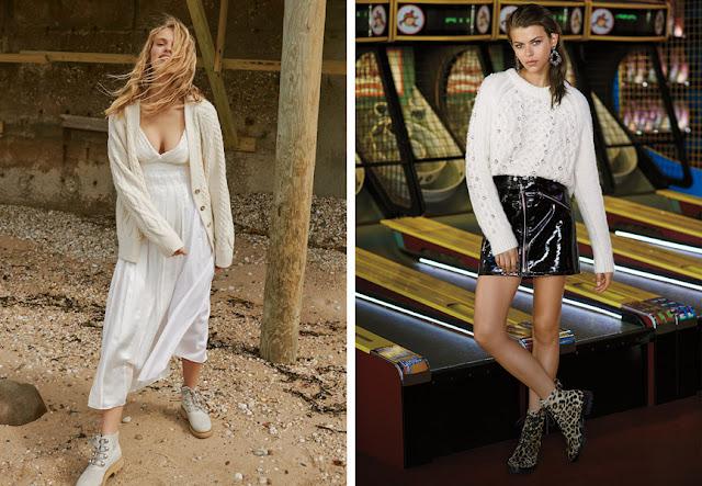 Туристические ботинки белые и с леопардовым принтом с летящим длинным платьем и короткой кожаной юбкой
