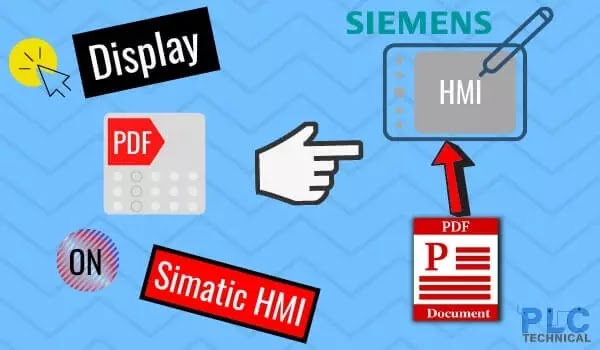 PDF document on a Siemens Comfort Panel HMI