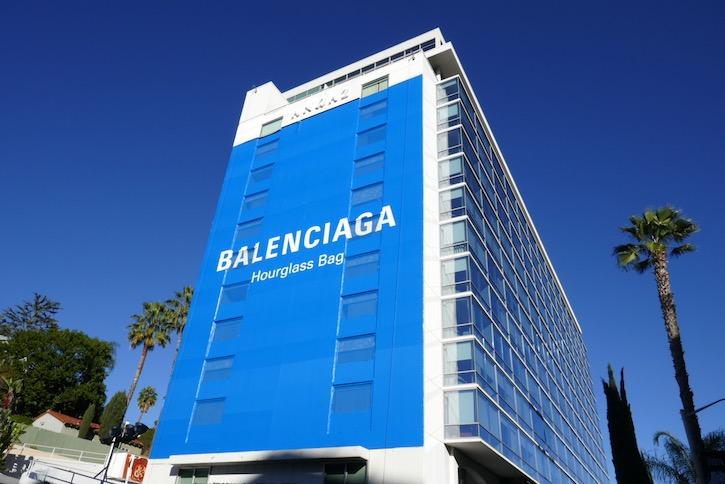Balenciaga Hourglass bag Holidays 2019 billboard