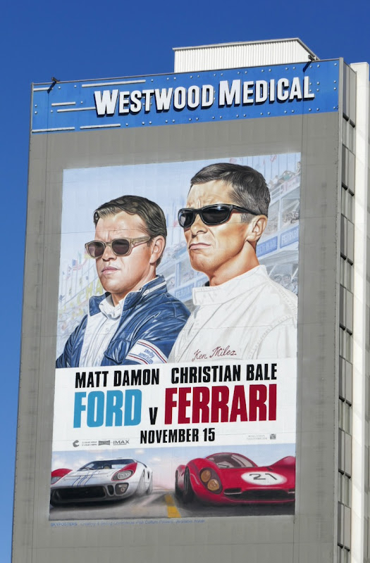 Giant Ford v Ferrari movie billboard