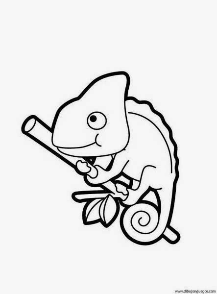 Maestra de Primaria: Dibujos de camaleones para colorear, para ...