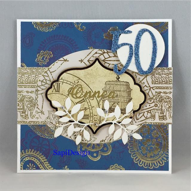 oriental royal blue luxury card SapiDesign