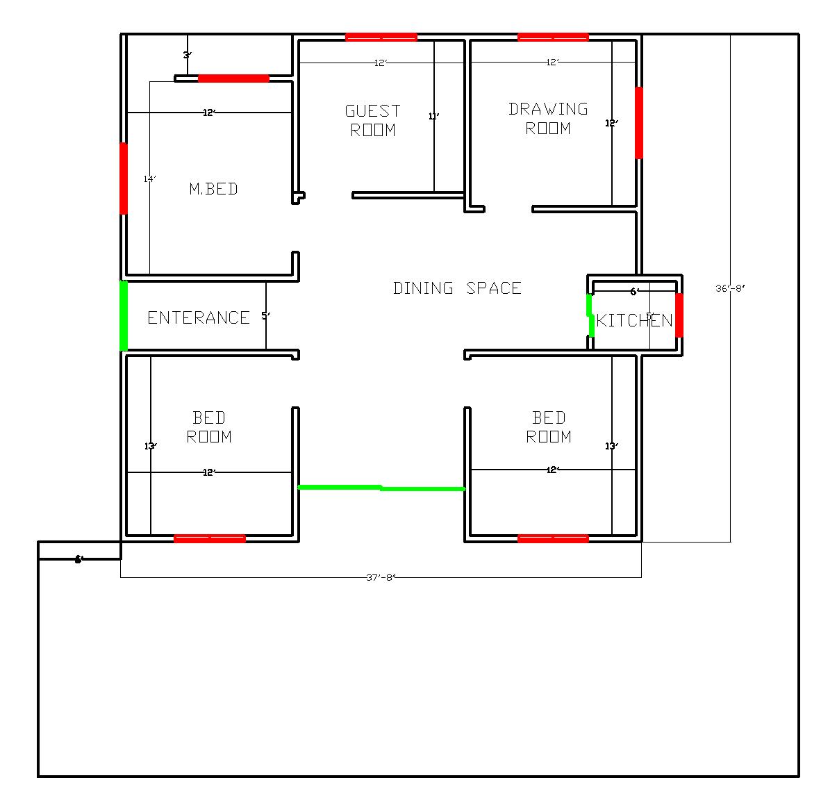 40x38 Layout Plan