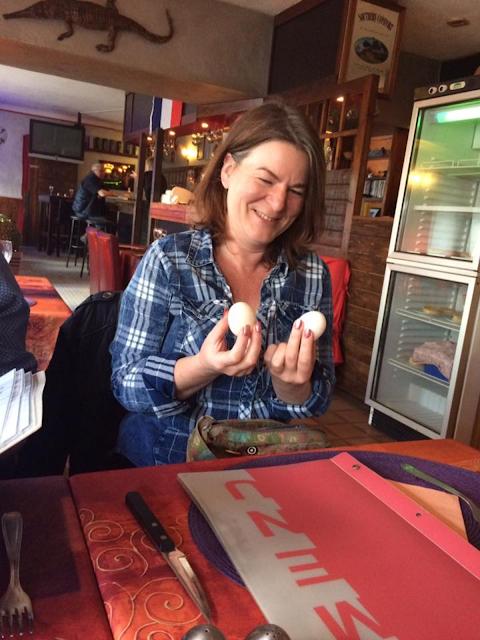 Free range eggs. Huelgoat. Brittany. France