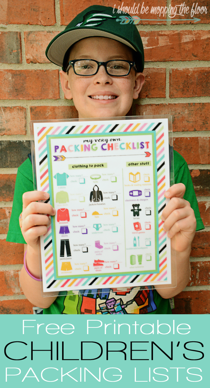 Printable Kids Travel Checklist
