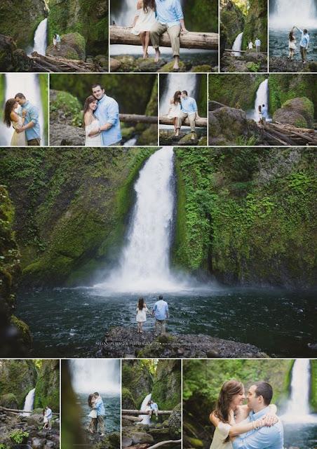 ensaio na cachoeira