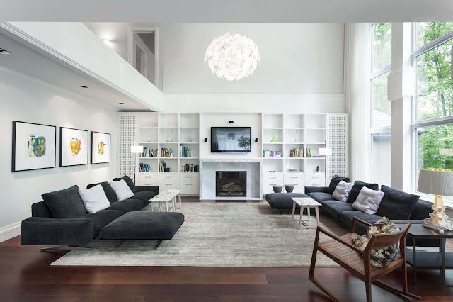 Beste minimalistische Wohnzimmer-Design