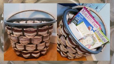 donna gets crafty diy home decor bathroom magazine basket