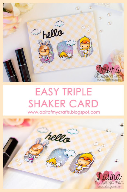 Easy Spring Themed Triple Shaker Card - C.C. Designs February 2019 Release Preview - Blog Hop plus Giveaway
