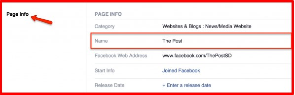 how to change the name of your facebook page