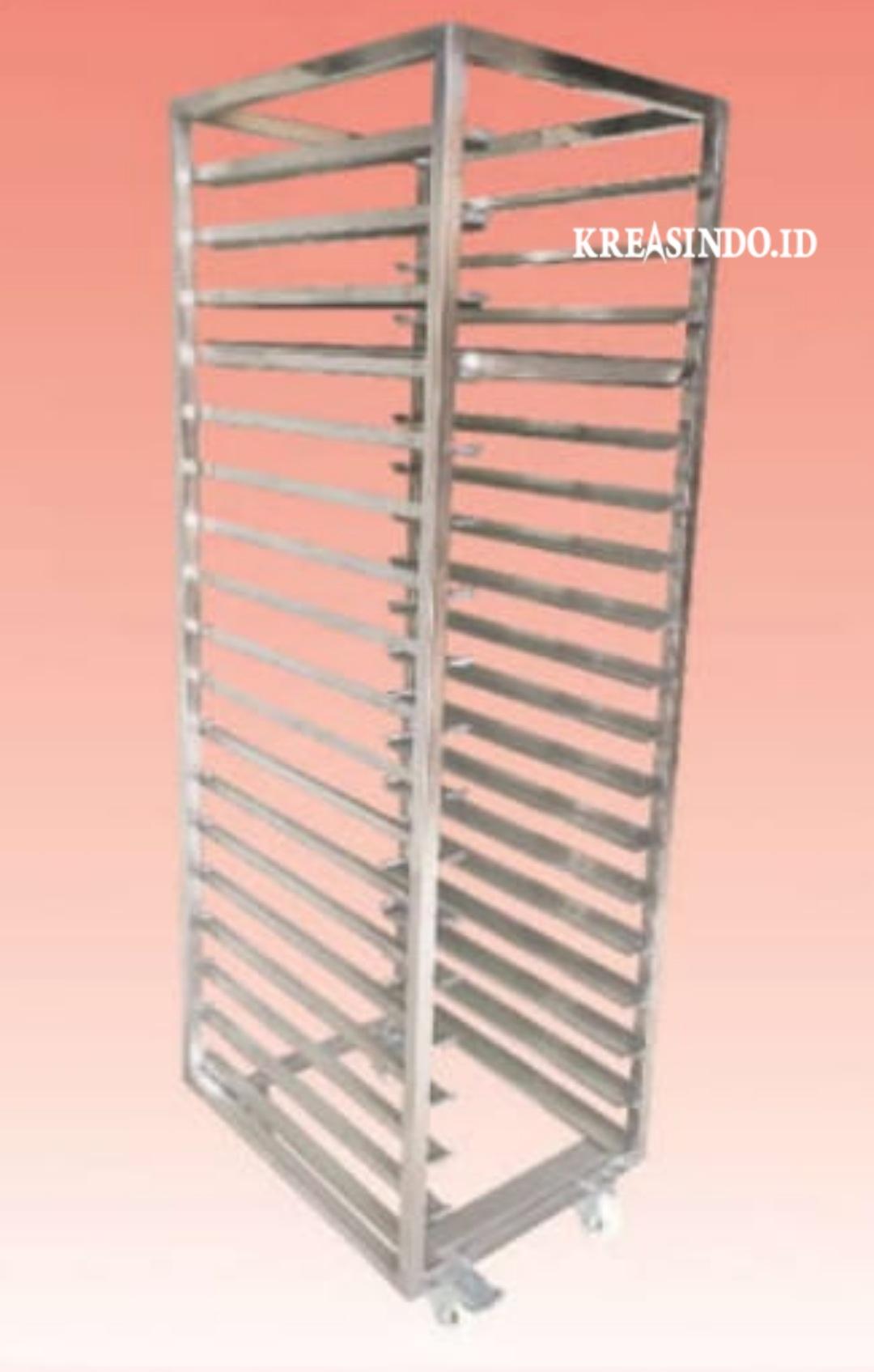 Daftar Harga Jasa  Pembuatan Rack Trolley Bakery atau Rak Makanan