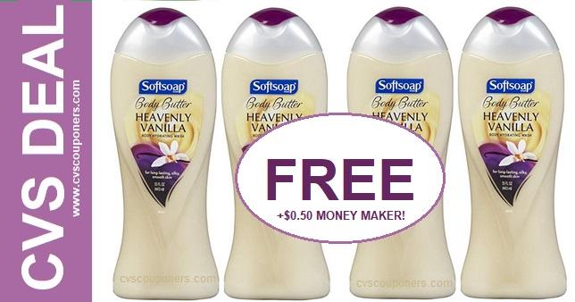 FREE Softsoap Body Wash CVS Deal - 519-525