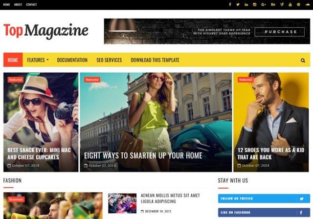 TopMagazine Blogger Theme
