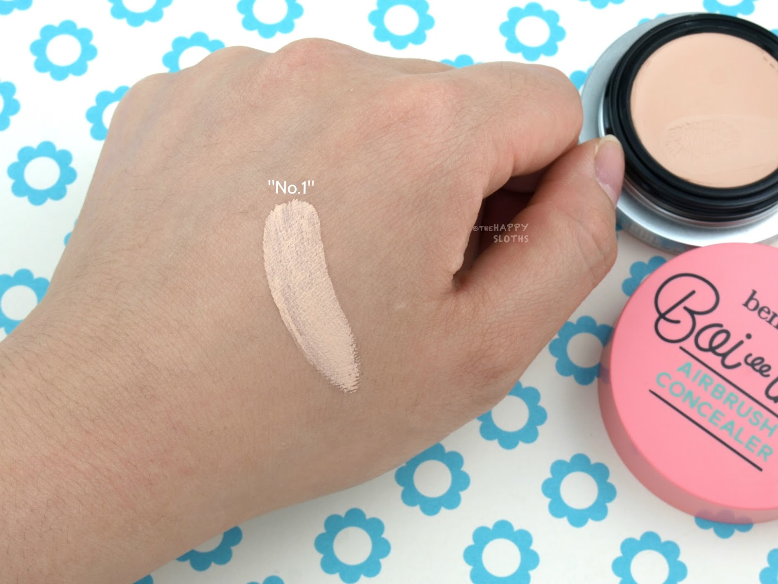 "Benefit Cosmetics Boi-ing Airbrush Concealer in ""No.1"": Review and Swatches"