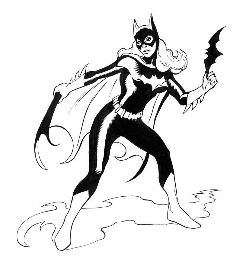 THE ART OF JIM NELSON: Bat-Mite and Batgirl