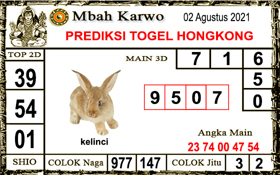 Prediksi Mbah Karwo Hk Senin 02 Agustus 2021
