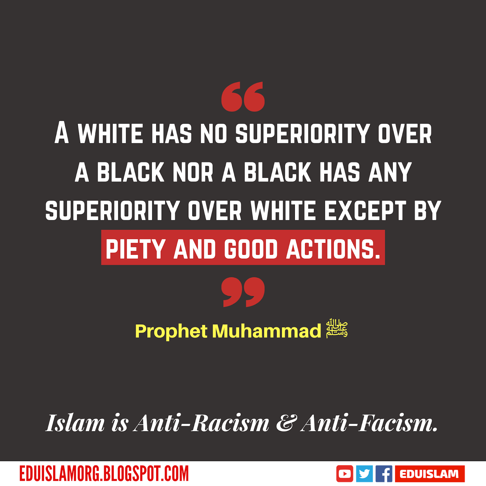 A white has no superiority over a black