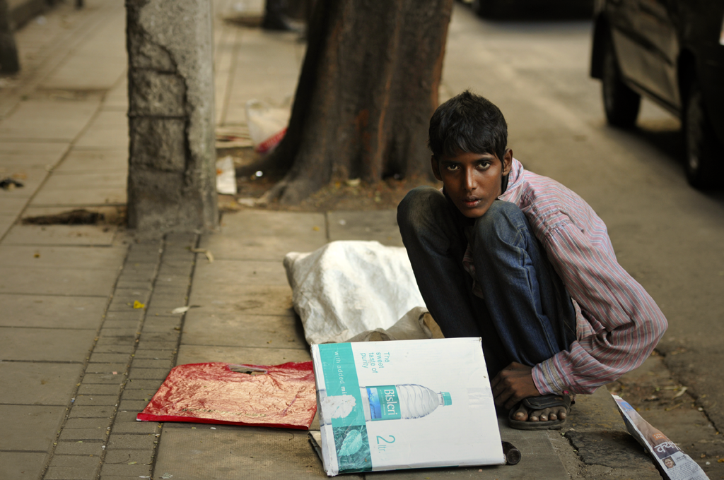 This is a street youth photo from India.