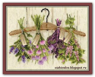 Скачать схему вышивки 1717 «Пряные травы» Riolis
