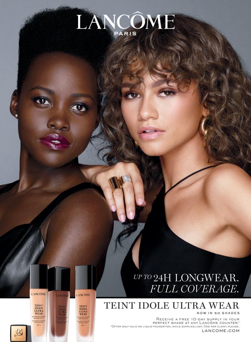 Lupita N'yongo and Zendaya front Lancome Teint Idole Ultra Wear campaign