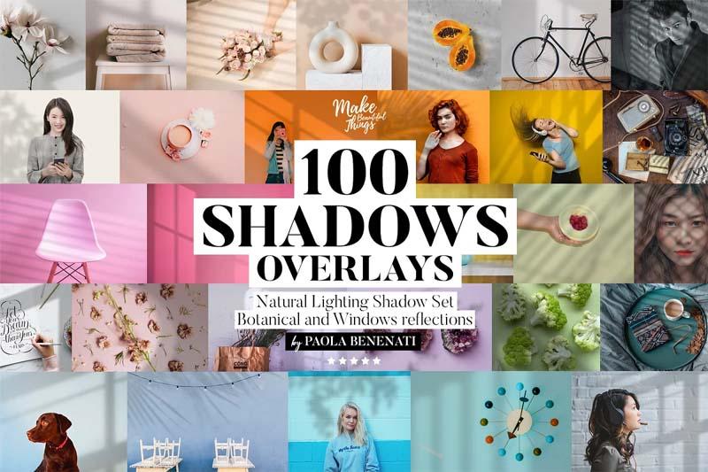 100 Natural Shadows Overlays Set