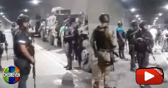 Aparecen videos de las 112 personas que quedaron atrapadas en el Túnel de El Paraíso